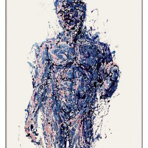 Doriforo painting on plexiglass by Marco Pettinari