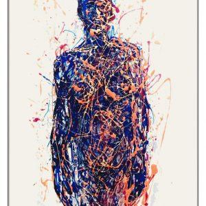SHE painting on plexiglass by Marco Pettinari