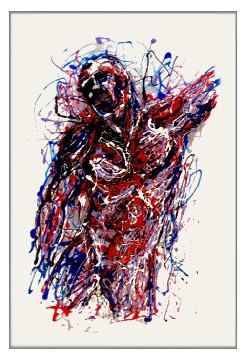 Tavola X painting on plexiglass by Marco Pettinari