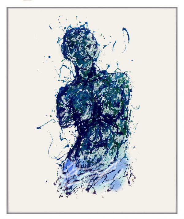 Aphrodite painting on plexiglass by Marco Pettinari