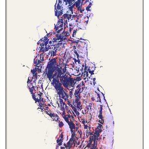 Viola painting on plexiglass by Marco Pettinari